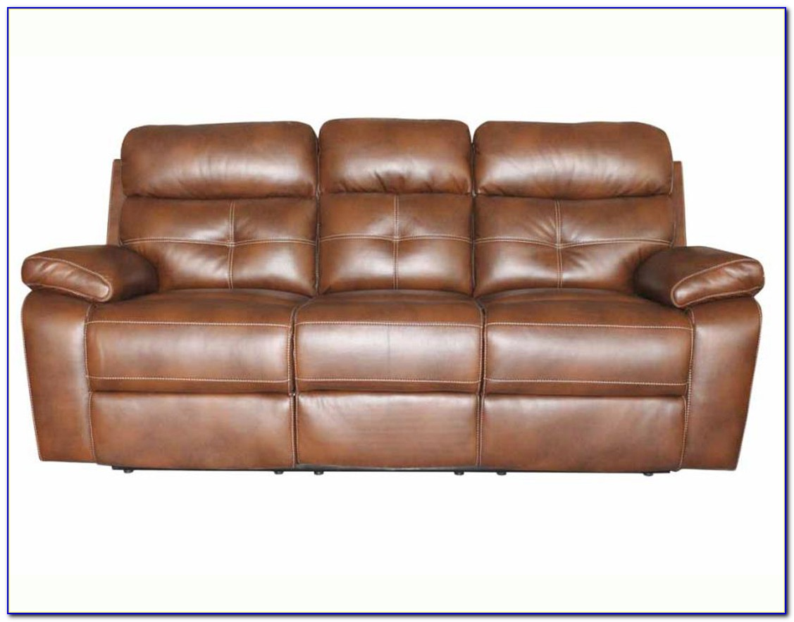Simmons Leather Reclining Sofa And Loveseat