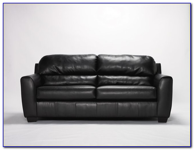 Small Black Leather Sleeper Sofa