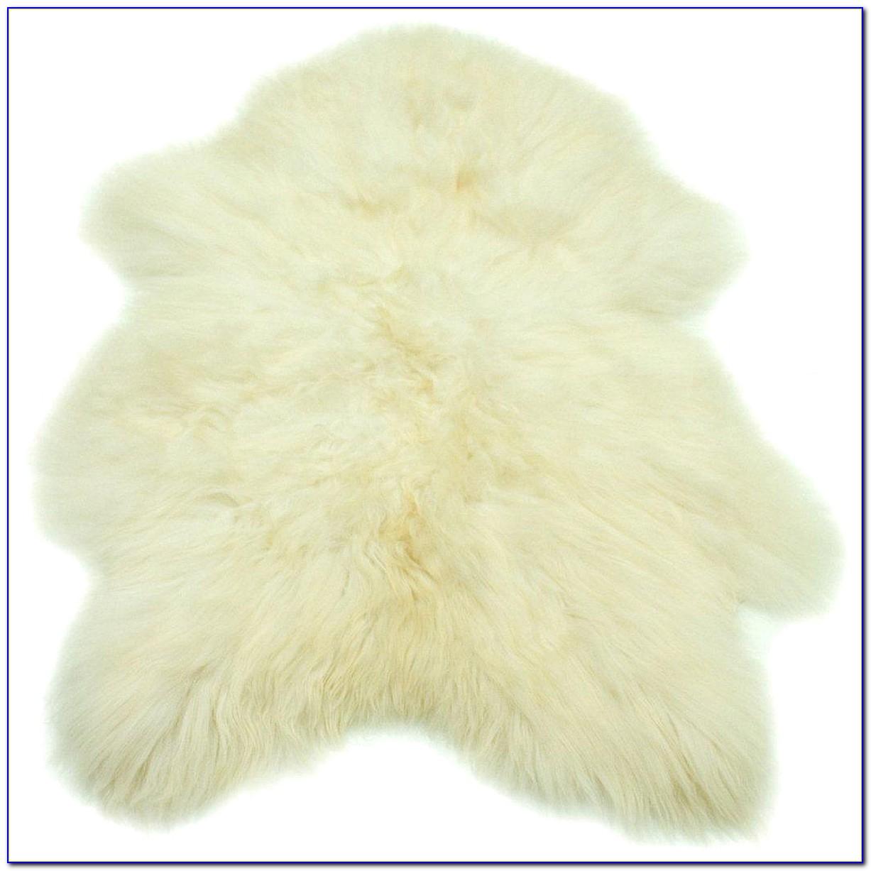 Small Faux Sheepskin Rug