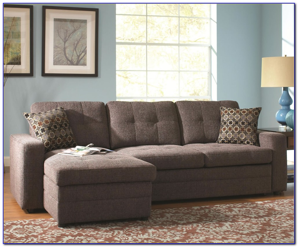 Small Leather Sectional Sleeper Sofa