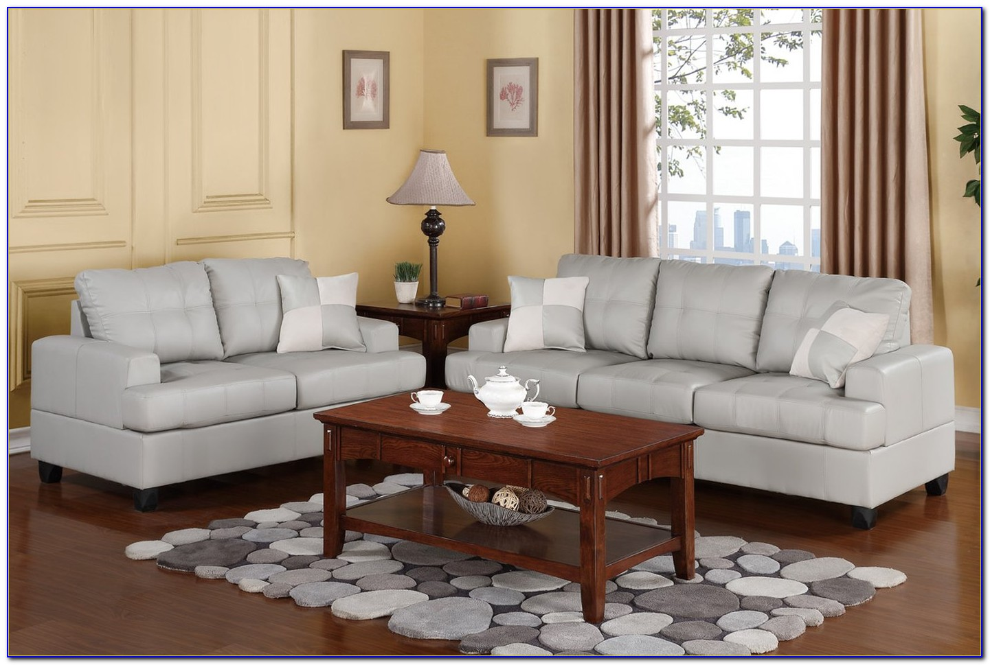 Sofa And Loveseat Set Up