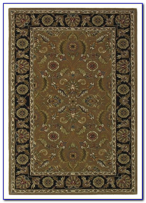 Solid Olive Green Area Rug