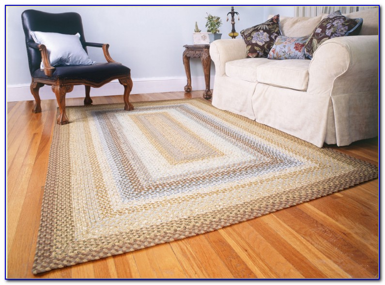 Square Braided Kitchen Rugs