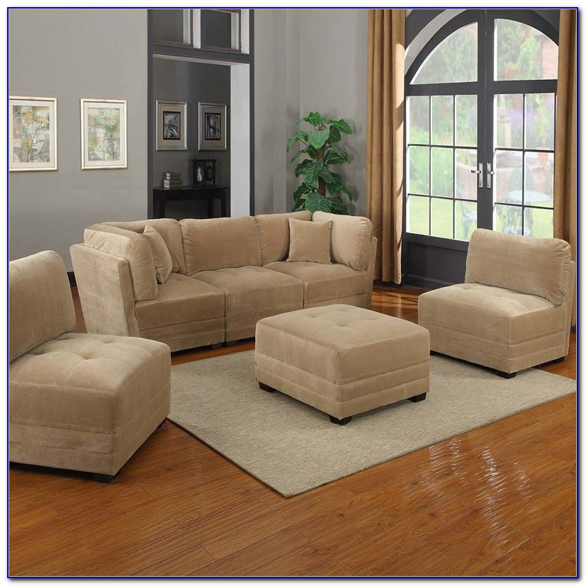 Stacey Leather 6 Piece Modular Sectional Sofa
