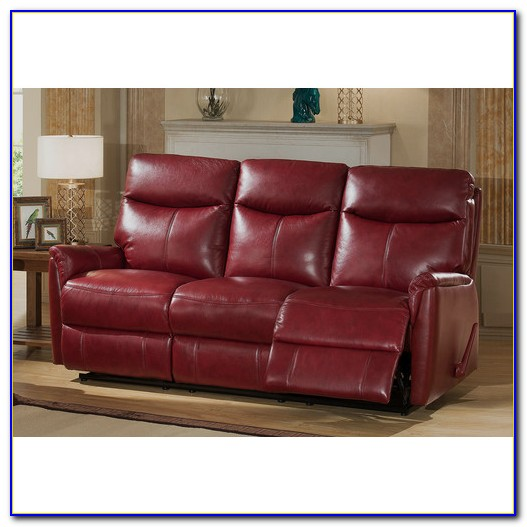 Top Grain Leather Power Reclining Sofa