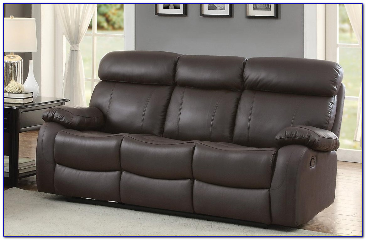 Top Grain Leather Reclining Sectional Sofa