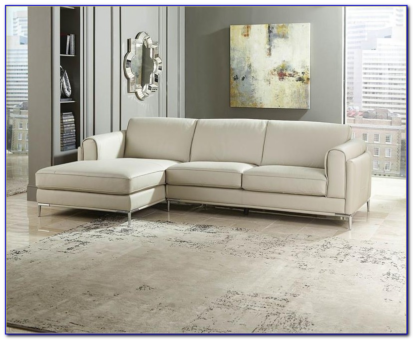 Top Grain Leather Sofa With Chaise