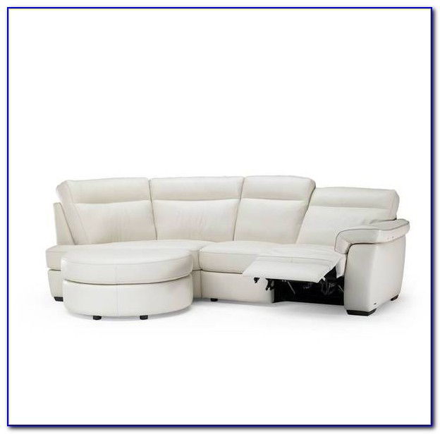 Traditional Curved Leather Sectional Sofa