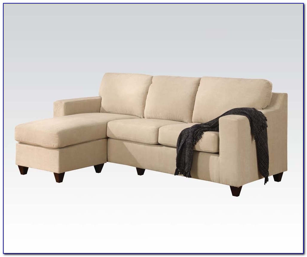 Vogue Microfiber Reversible Chaise Sectional Sofa Chocolate