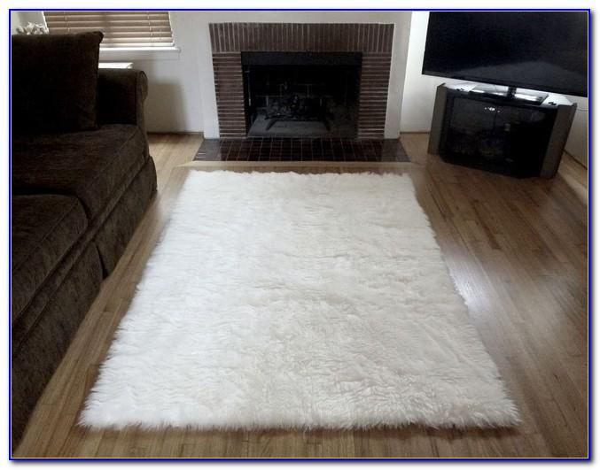White Faux Fur Rug Ebay