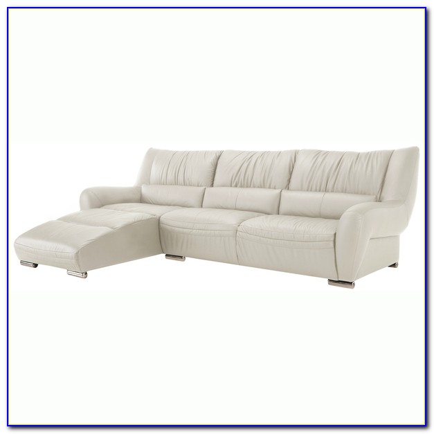 White Italian Leather Sectional Sofa