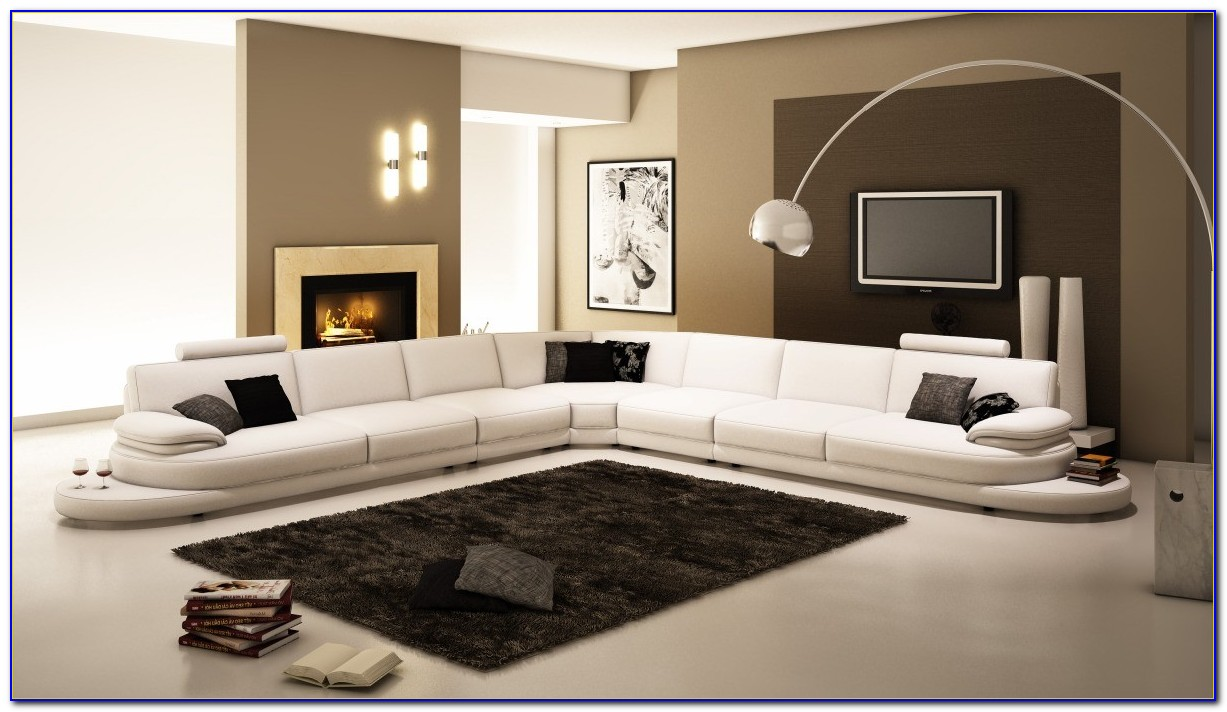 Winston Italian Leather Sectional Sofa