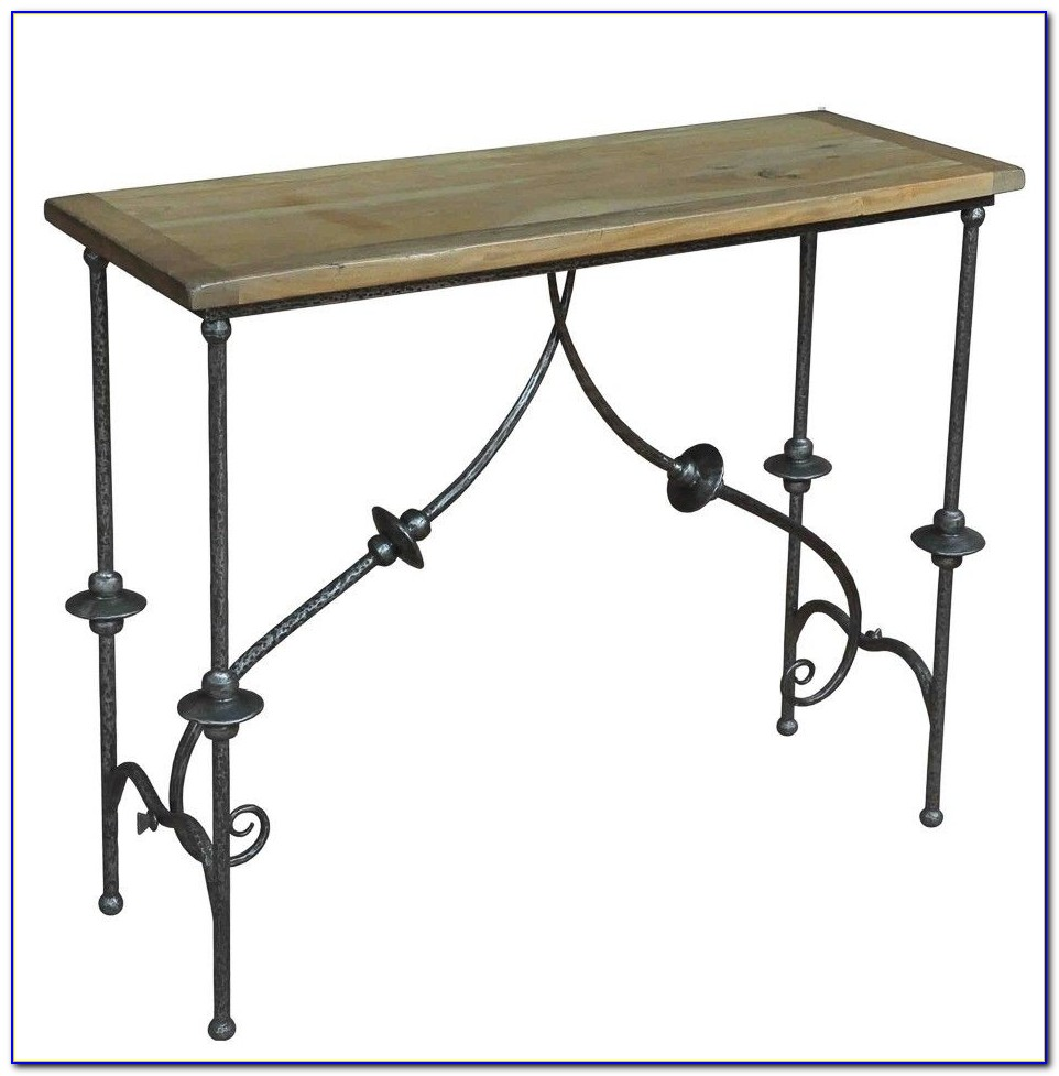 Wrought Iron Sofa Table With Glass Top