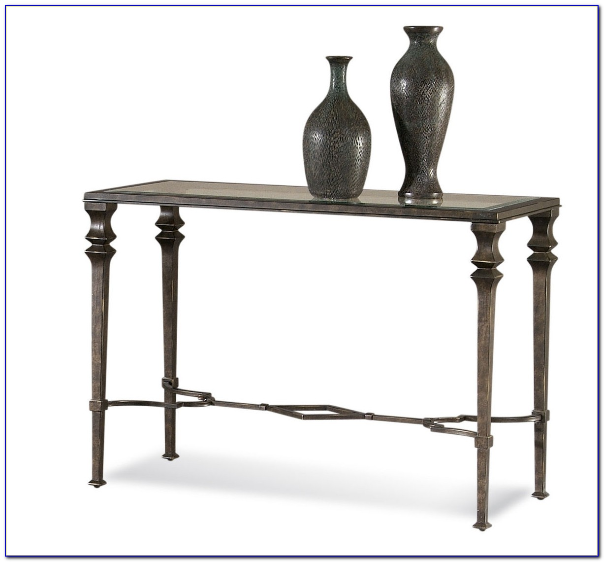 Wrought Iron Wood Sofa Tables