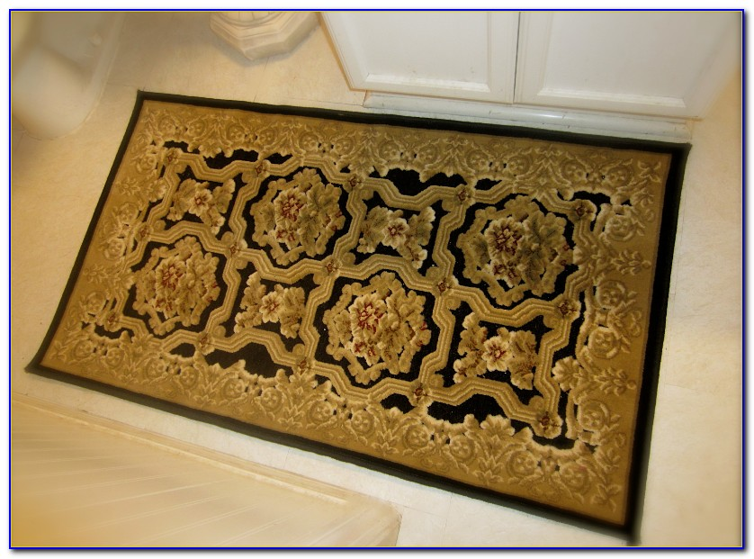 Yellow Gold Bath Rugs