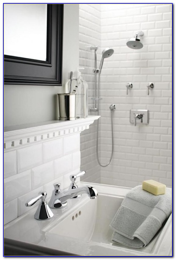 4 X 8 Beveled Subway Tile White
