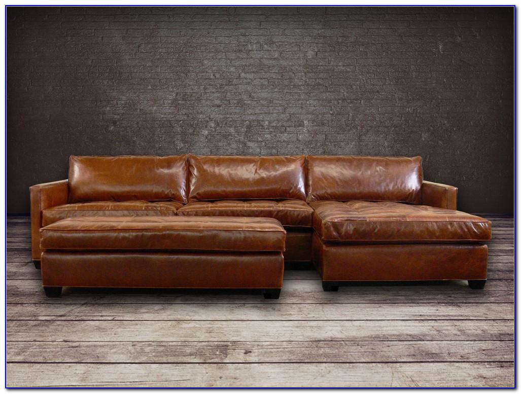 Abbyson Living Devonshire Premium Top Grain Leather Sectional Sofa