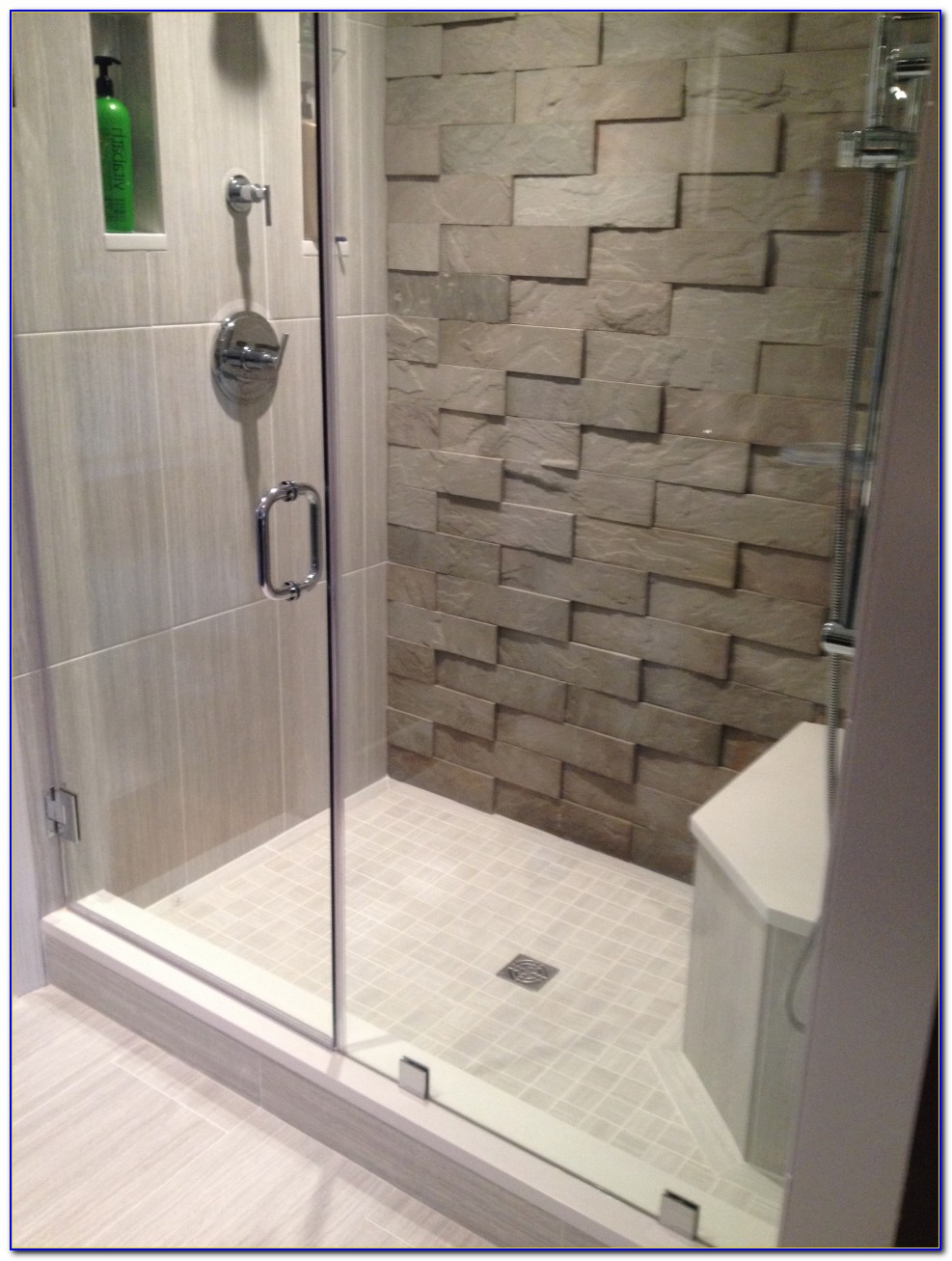 Accent Tile Wall In Shower