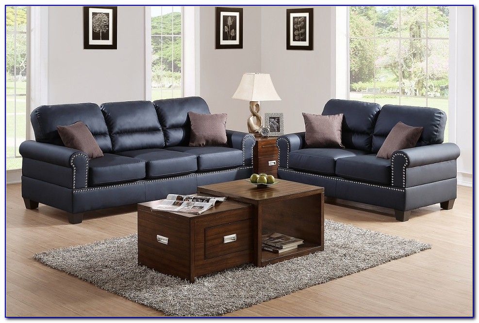 Ashley Furniture Black Leather Sofa And Loveseat
