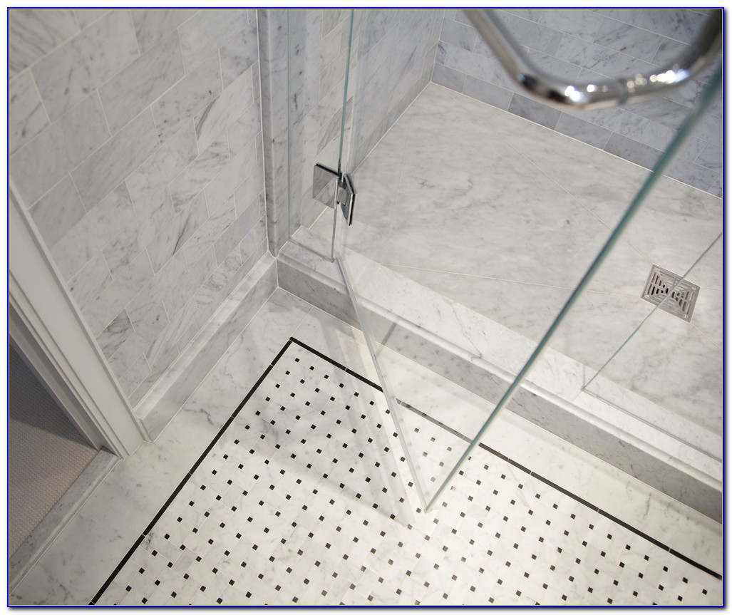 Basket Weave Marble Floor Tile