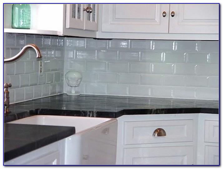 Black And Brown Glass Tile Backsplash
