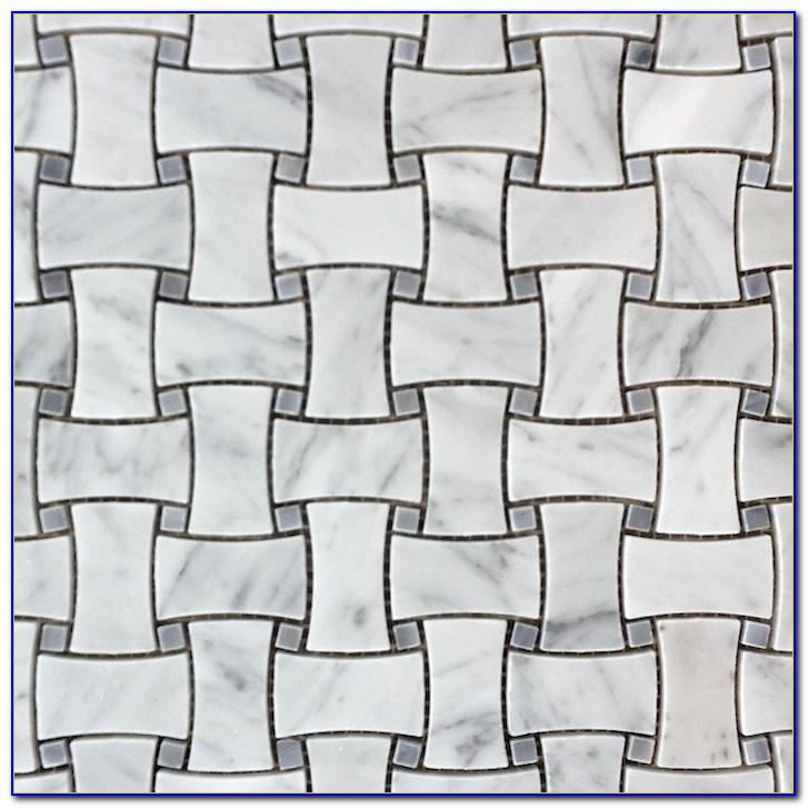Black And White Porcelain Basket Weave Tile