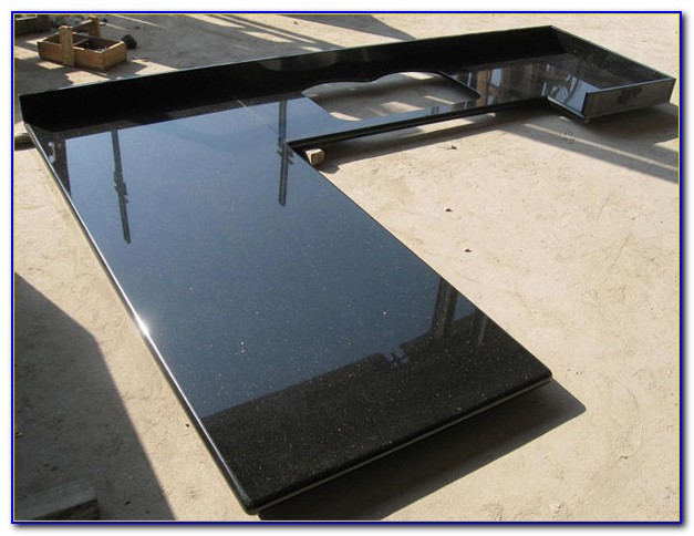 Black Galaxy Granite Tile 24x24