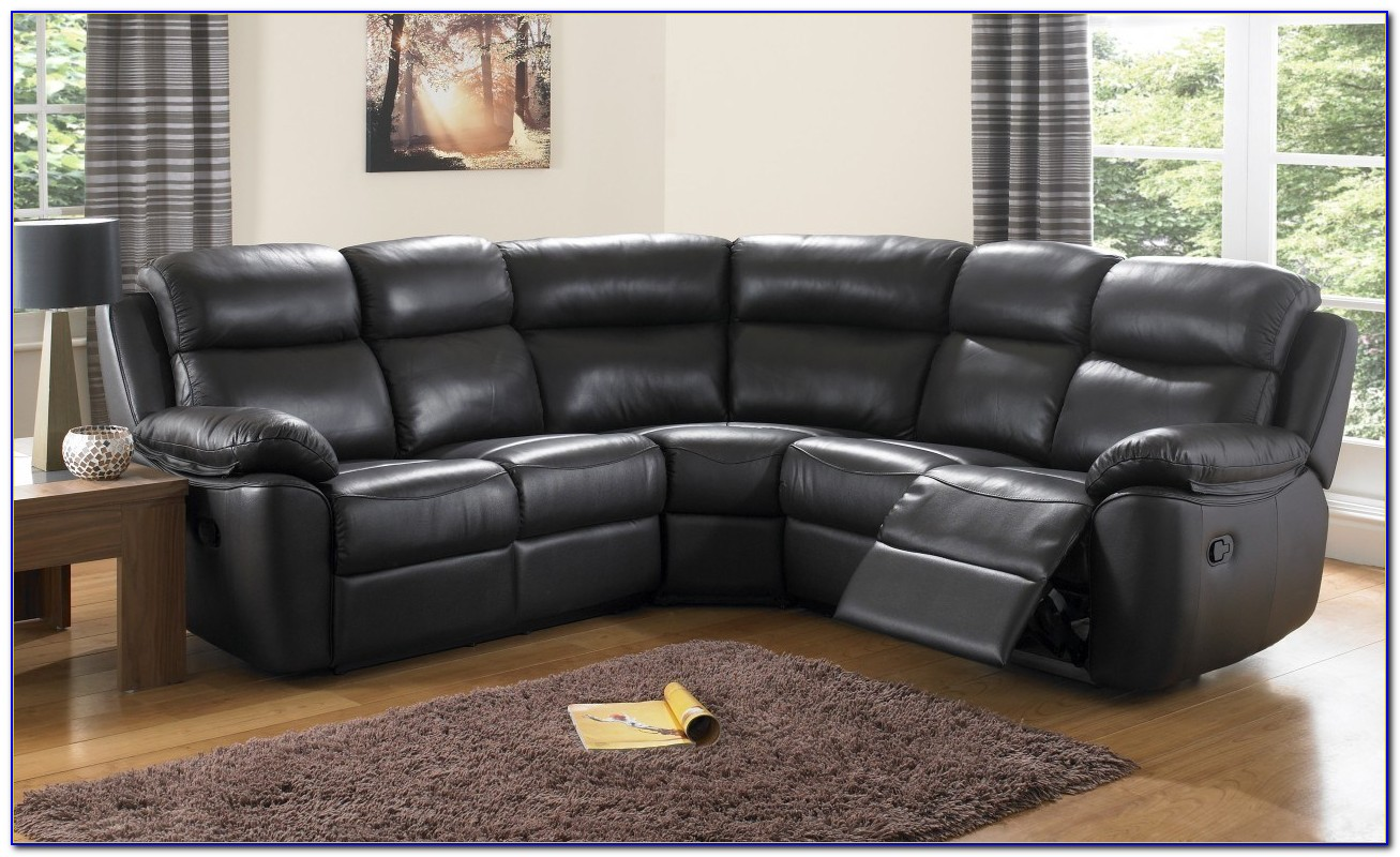 Black Leather Recliner Sofa And Chair