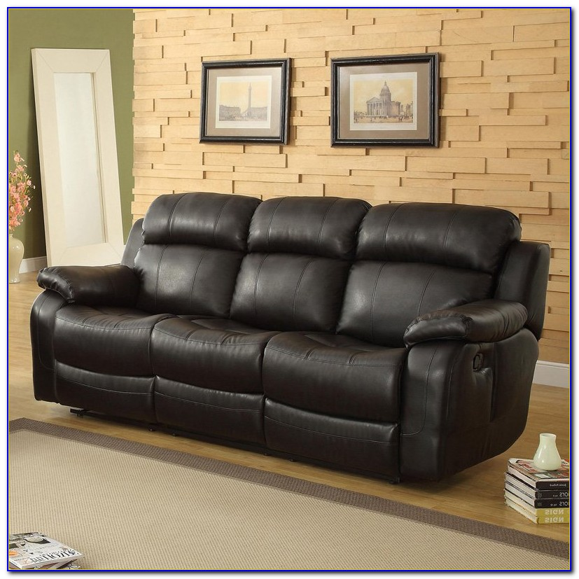 Black Leather Recliner Sofa Set
