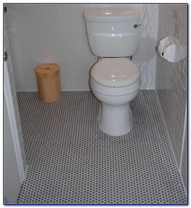 Black Penny Round Floor Tile