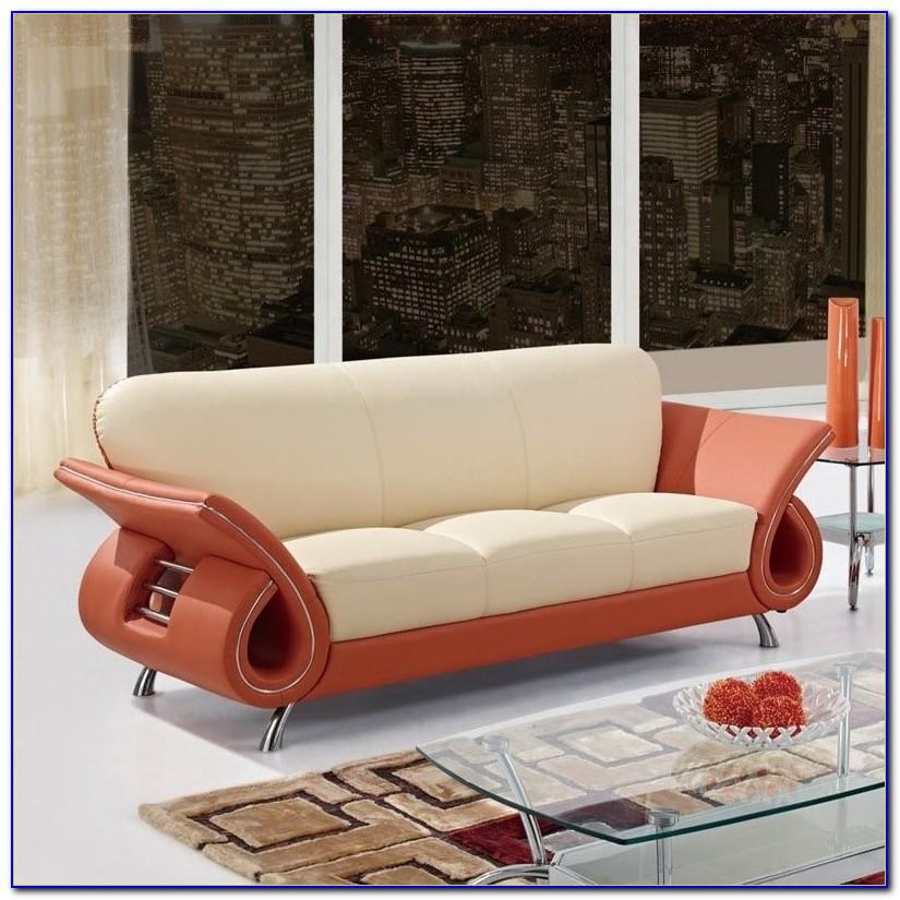 Burnt Orange Leather Sofa Bed