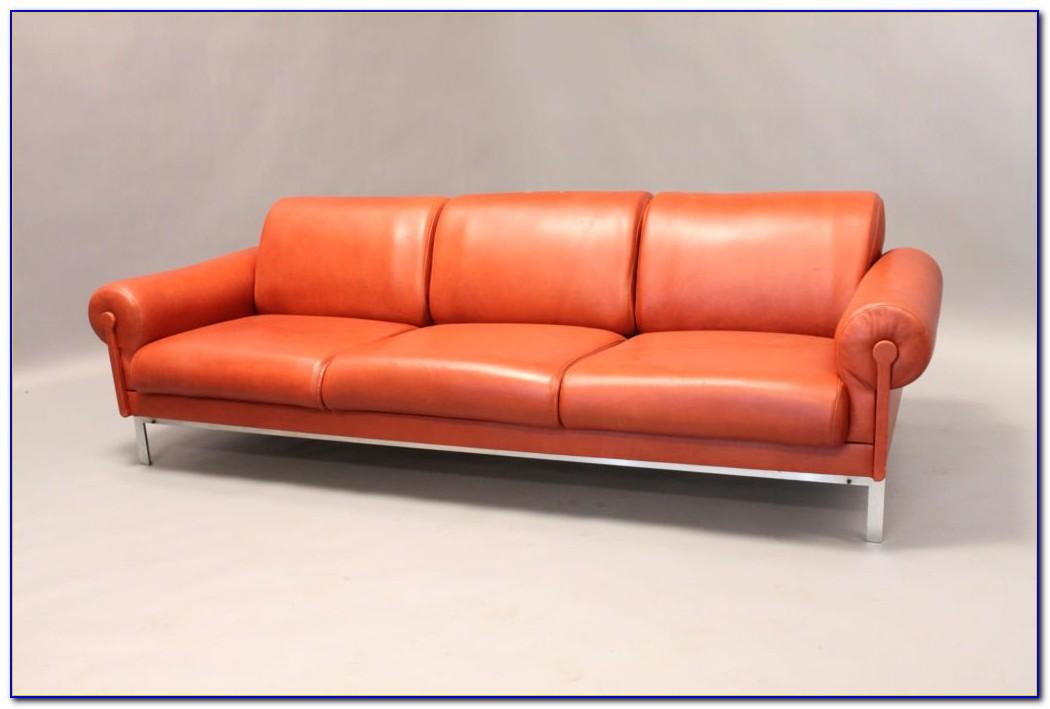 Burnt Orange Leather Sofa Set