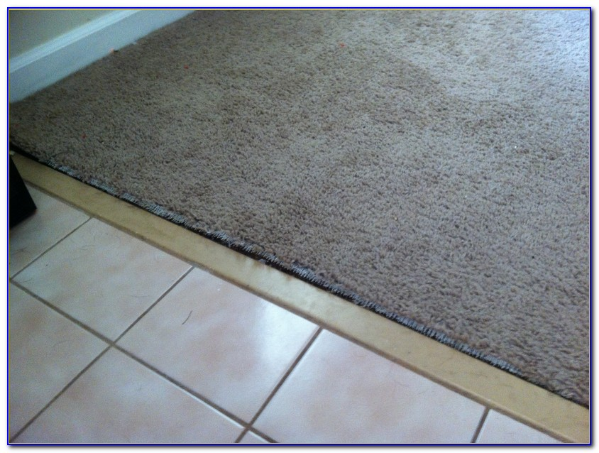 Carpet Transition To Tile Installation