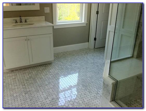 Carrara Marble Basketweave Floor Tile