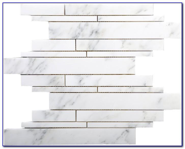 Carrara Marble Basketweave Mosaic Tile
