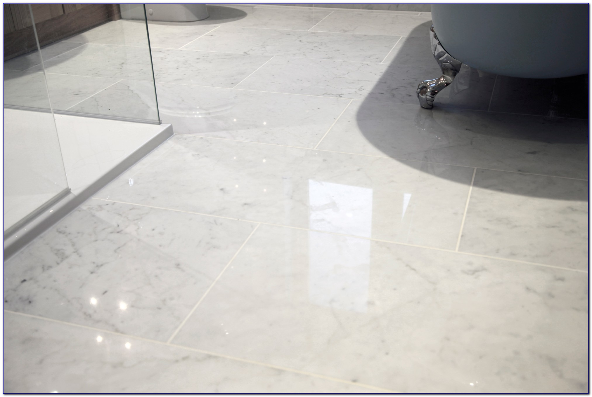 Carrara Marble Floor Tile Honed