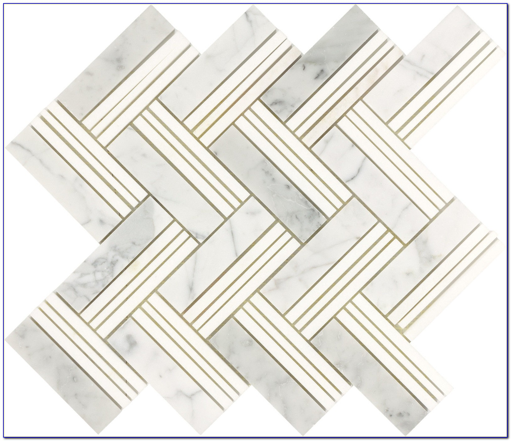 Carrara Marble Glass Mosaic Tile