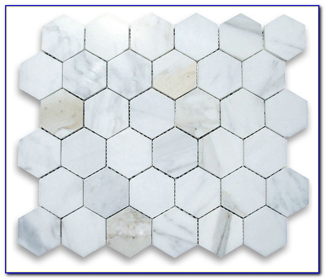 Carrara Marble Hexagon Floor Tile