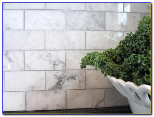 Carrara Marble Subway Tile Bathroom