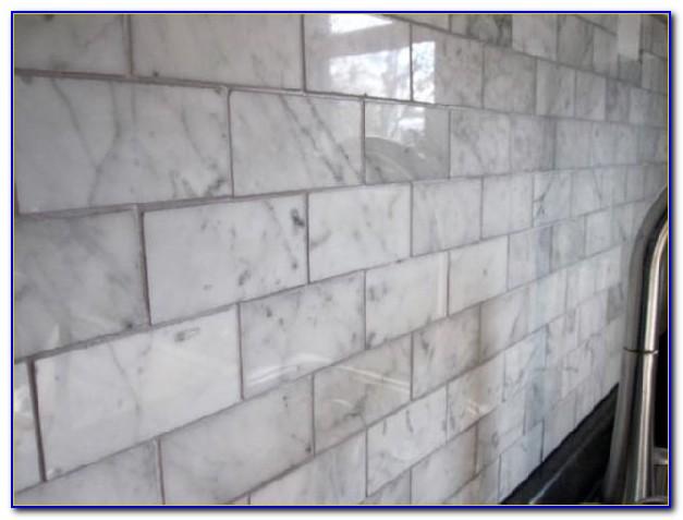 Carrara Marble Subway Tile Grout Color