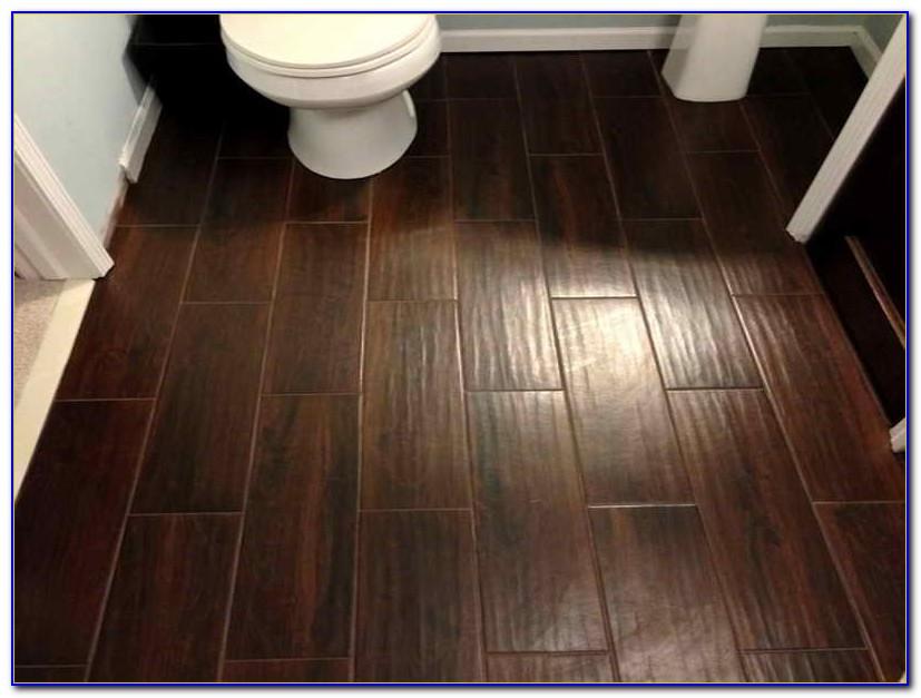 Ceramic Tile That Looks Like Wood In Bathroom
