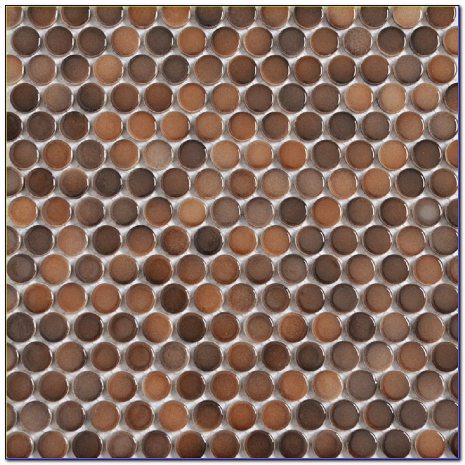 Copper Penny Round Mosaic Tile