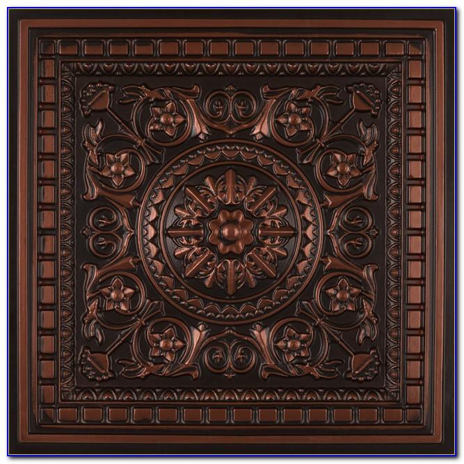 Diy Faux Copper Ceiling Tiles
