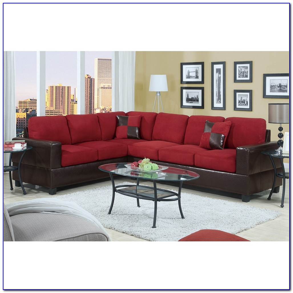 Faux Leather Sectional Sofa Bed