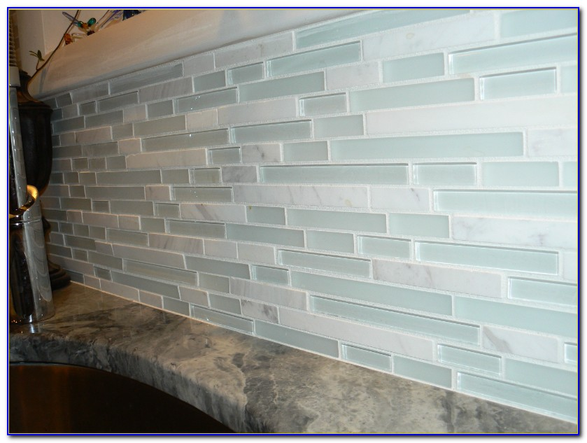 Glass Tile Backsplash Install