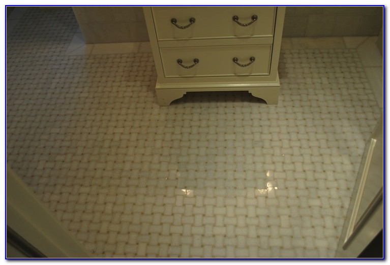 Installing Marble Basketweave Floor Tile