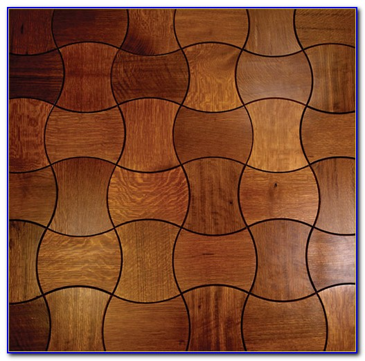 Interlocking Hardwood Floor Tiles