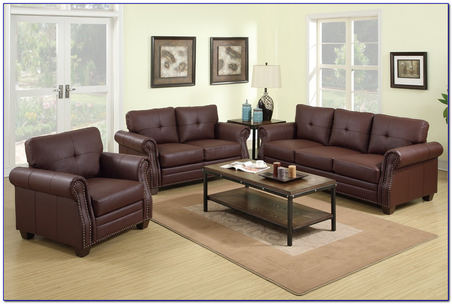 Leather Sofas And Loveseats Set