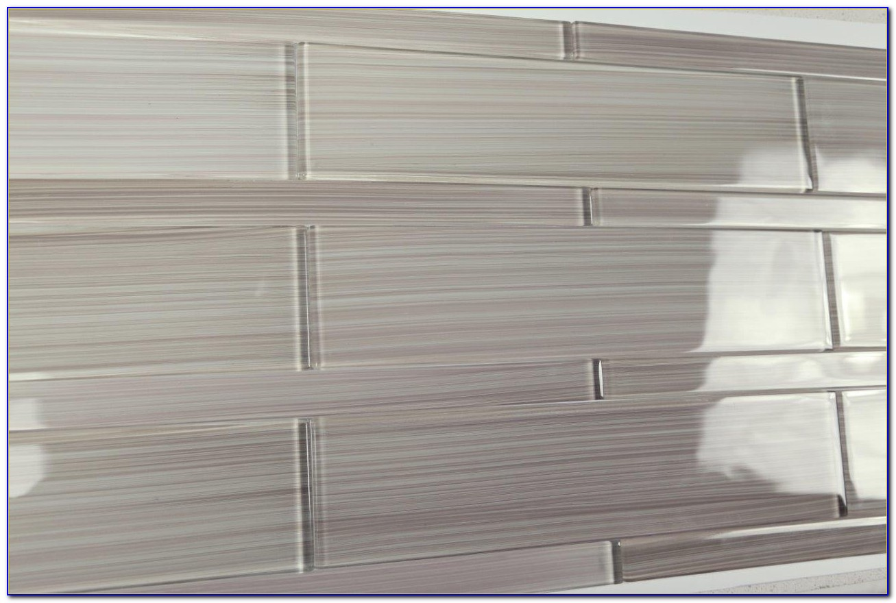 Light Grey Subway Tile Backsplash