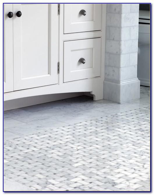 Marble Basketweave Bathroom Tile